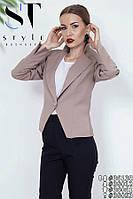 Деловой брючный костюм с с закругленными разрезами внизу брюк размеры S-ХХL, фото 1
