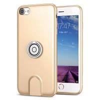 Чехол для Iphone Baseus Magnetic Wireless Charging 3 в 1 для iPhone 7/8 Золотистый (SUN1709), фото 1