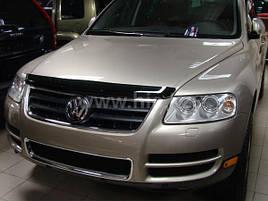 Дефлектор капота (мухобойка) на HIC VW Touareg с 2003-- 2010