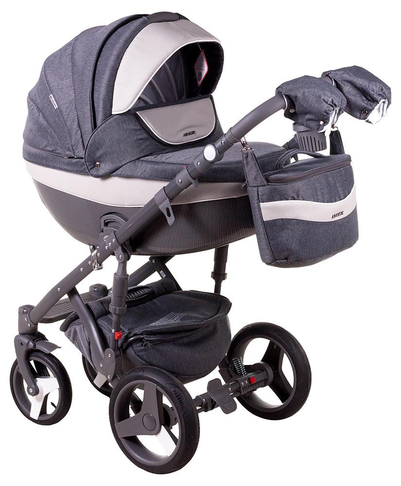 Детская универсальная коляска 2 в 1 Adamex Monte Deluxe Carbon D23