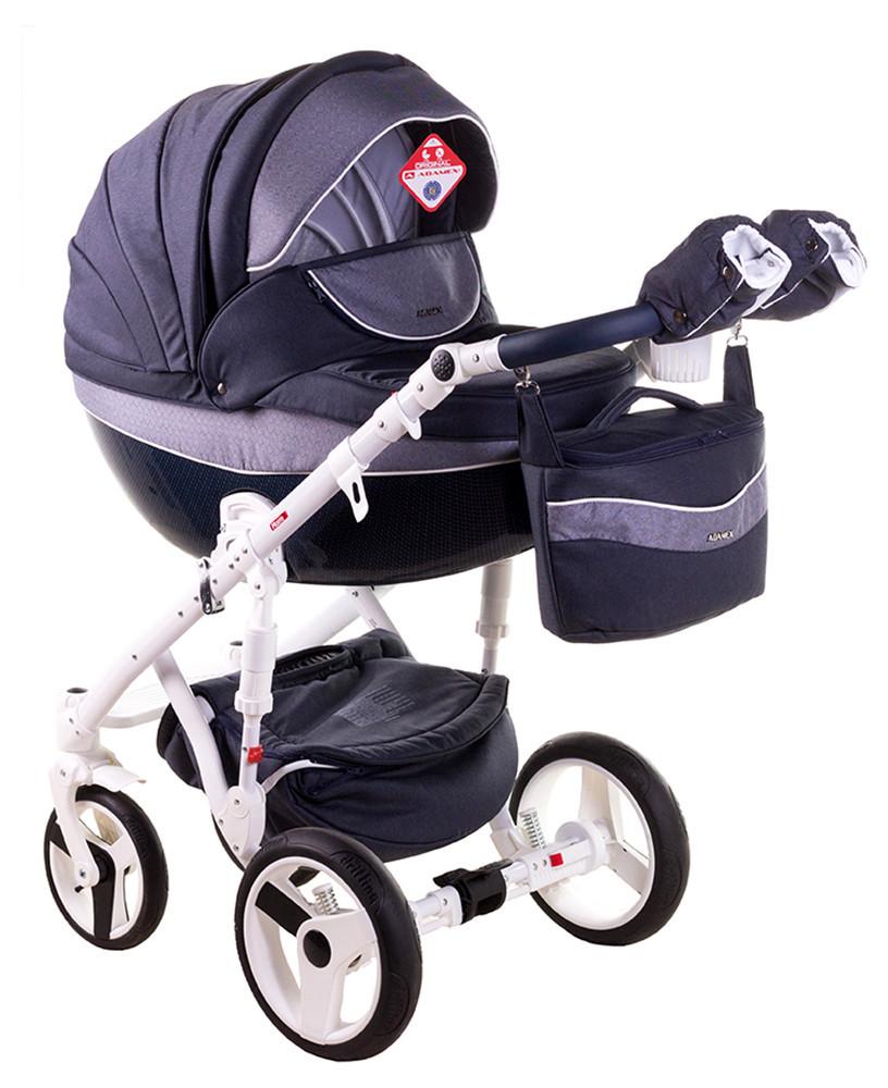 Детская универсальная коляска 2 в 1 Adamex Monte Deluxe Carbon D24