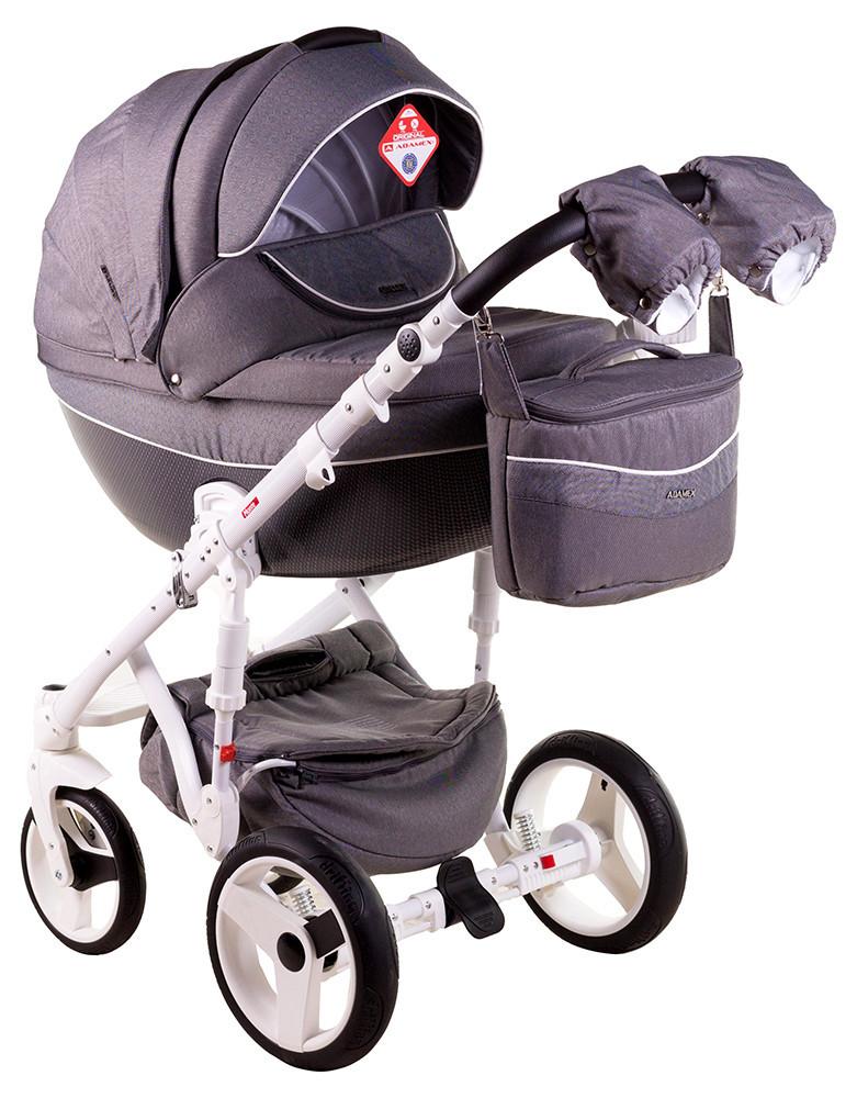 Детская универсальная коляска 2 в 1 Adamex Monte Deluxe Carbon D25