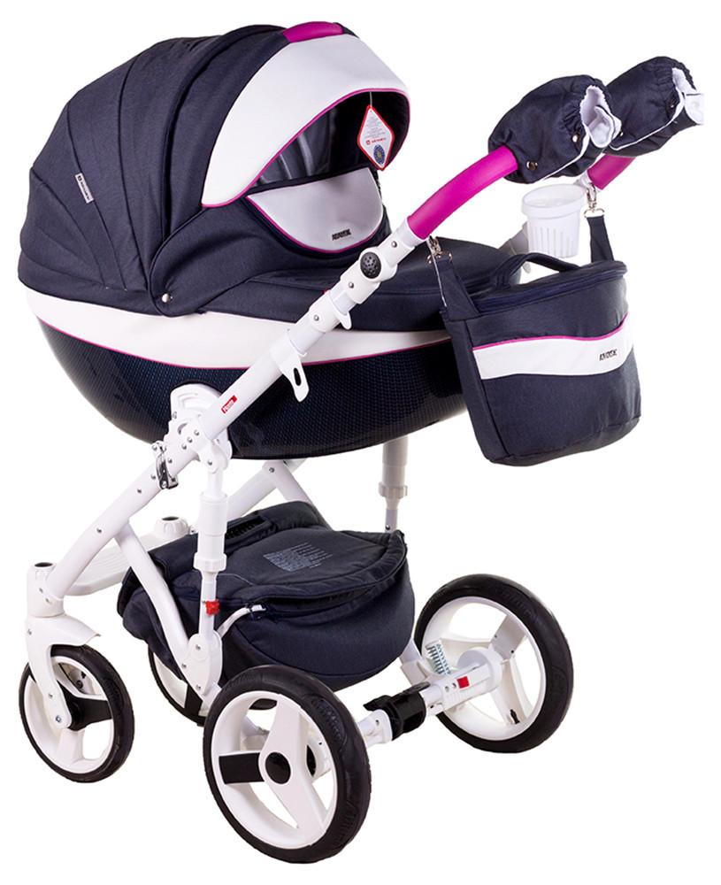 Детская универсальная коляска 2 в 1 Adamex Monte Deluxe Carbon D36