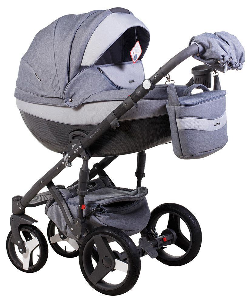 Детская универсальная коляска 2 в 1 Adamex Monte Deluxe Carbon D26