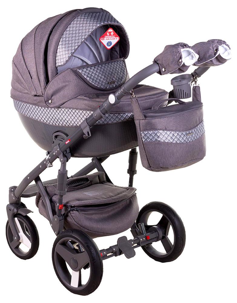 Детская универсальная коляска 2 в 1 Adamex Monte Deluxe Carbon D28
