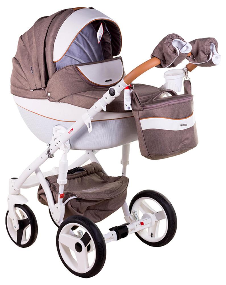 Детская универсальная коляска 2 в 1 Adamex Monte Deluxe Carbon D34