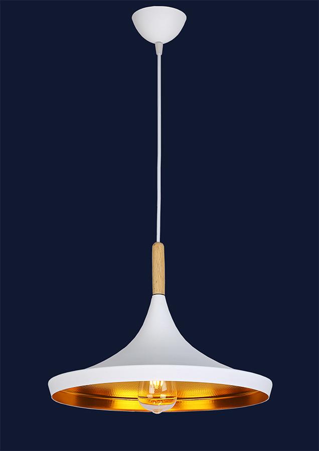 Белый светильник с золотом внутри 7526602B-1 WH