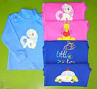 Детская теплая водолазка для девочки на плече на кнопках 1,2,3,4,5,6 лет, фото 1