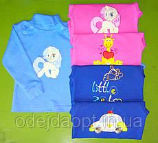 Детская теплая водолазка для девочки на плече на кнопках 1,2,3,4,5,6 лет
