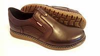 Мужские кожаные туфли Kristan brown old school реплика, фото 1