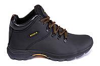Мужские зимние кожаные ботинки в стиле Ecco Infinity black