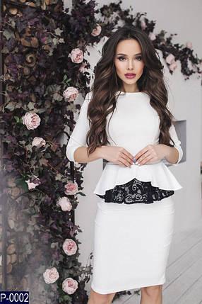 Белый костюм с кружевом, фото 2