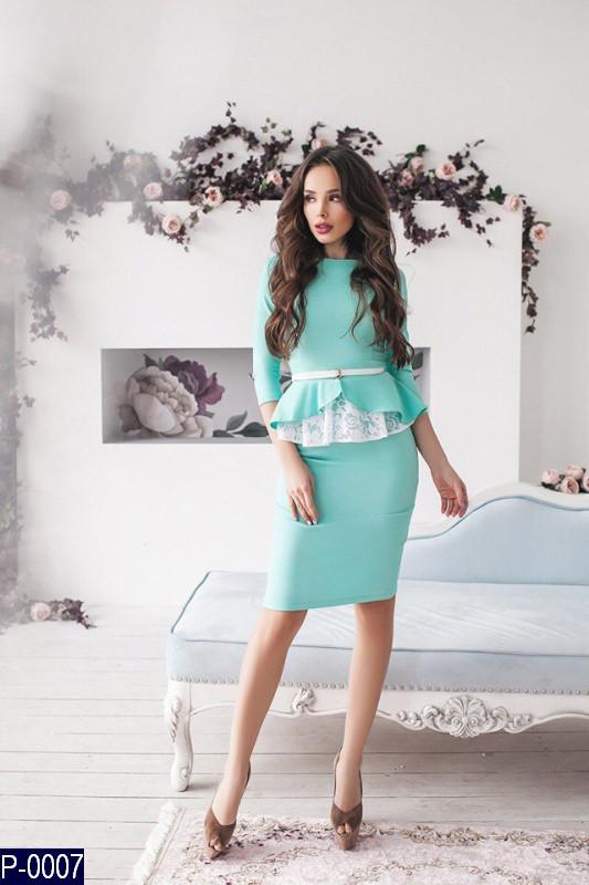 Костюм юбка и блузка кружево