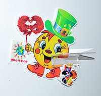Стенд для рисунка и поделки Колобок на карнавале