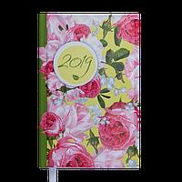 Ежедневник датированный Buromax 2019 ESTILO A6 336 стр. голубой