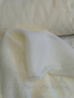 Тюль шифон молочного цвета с утяжелителем Турция