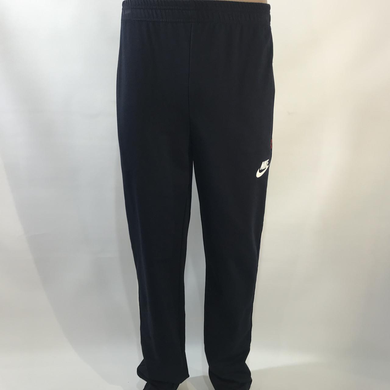 Спортивные штаны прямые в стиле Nike / трикотажные / черные р. 46,48,50,52,54