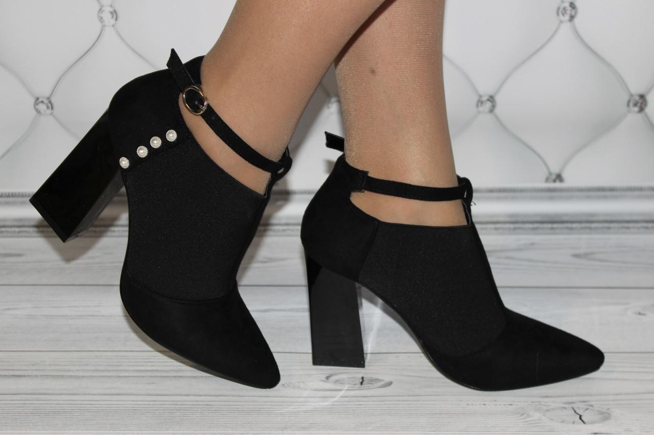 Женские туфли черные на каблуке размер 37