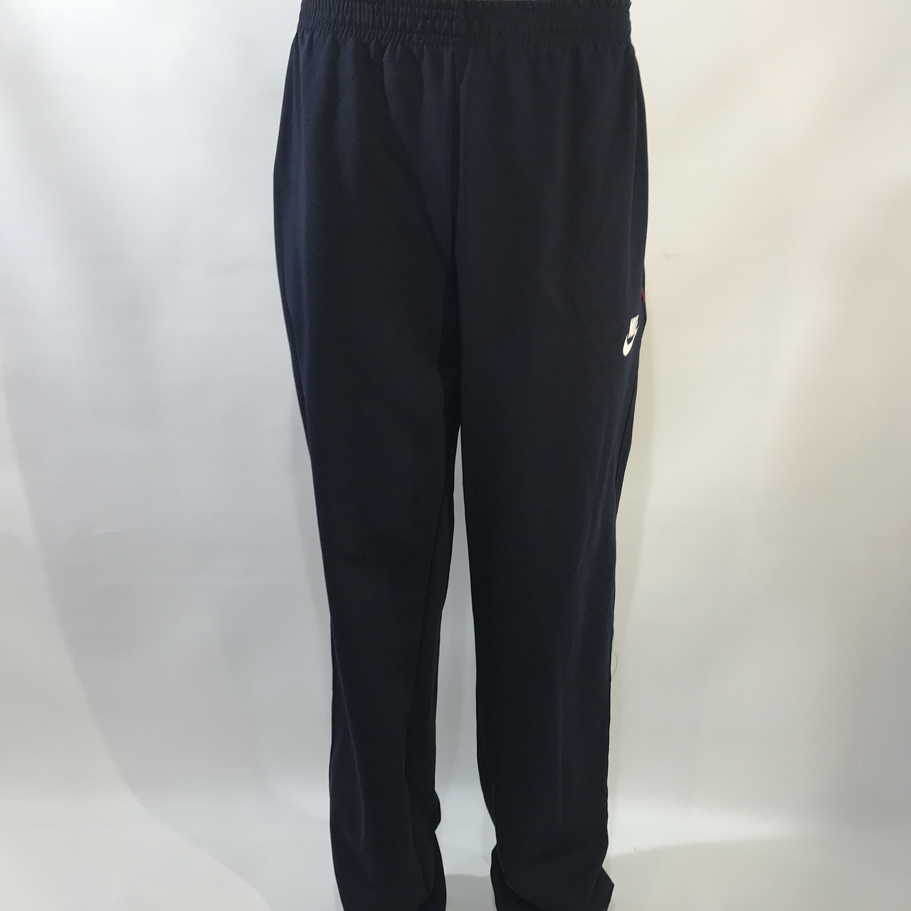 Спортивные штаны прямые в стиле Nike (большой размер) трикотажные 56,58 темно-синие