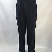 Спортивные штаны прямые в стиле Nike (большой размер) трикотажные 56,58 темно-синие, фото 1