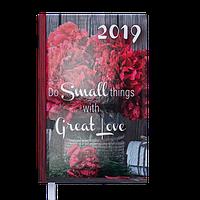 Ежедневник датированный Buromax 2019 ROMANTIC A6 336 стр.
