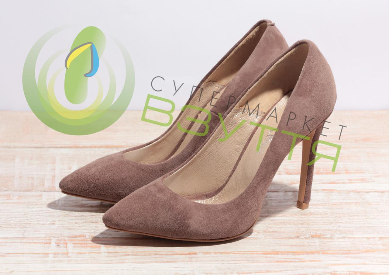 Туфлі жіночі замшеві Leader style арт. 2322 кор розміри 36-40
