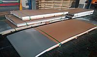 Лист нержавеющий матовый 0,8х1250х2500 мм сталь  AISI 430 / 12Х17  (матовый, 2В в пленке PE и бес)
