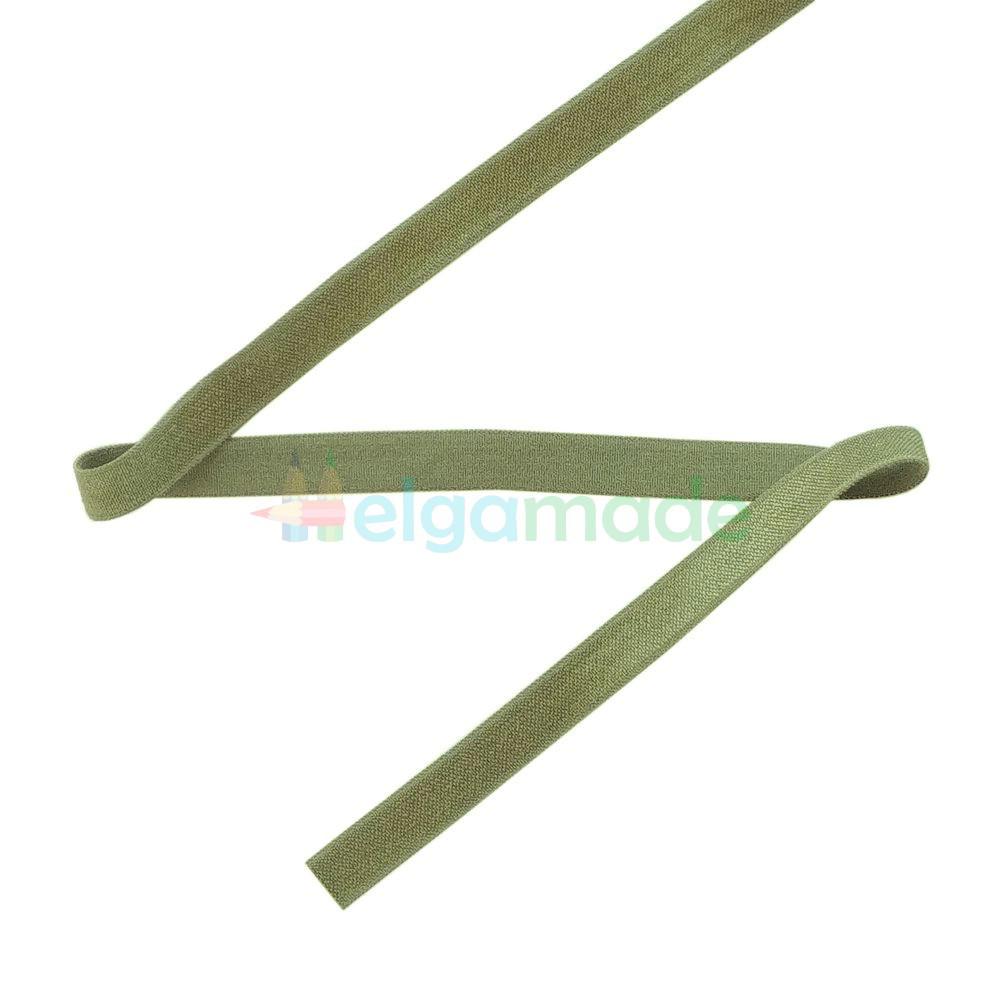 Тасьма еластична для пов'язок, тонка ОЛИВКОВА, 10 мм