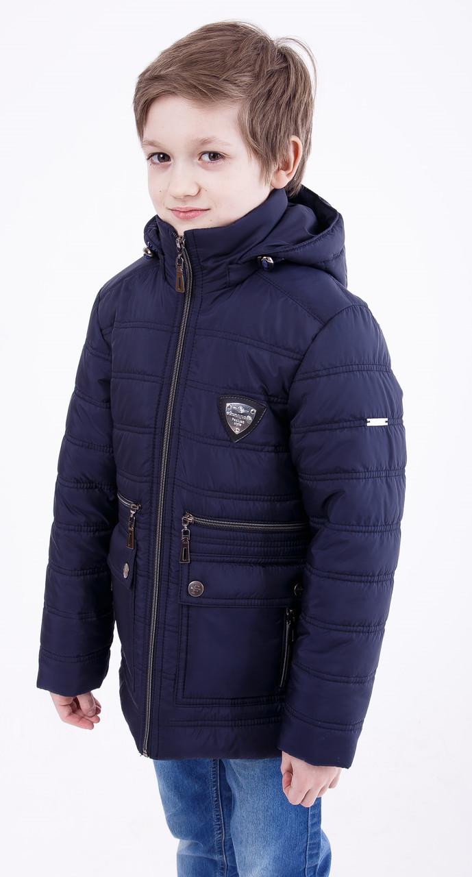 Осенняя куртка на мальчика подростка  32-44 синяя