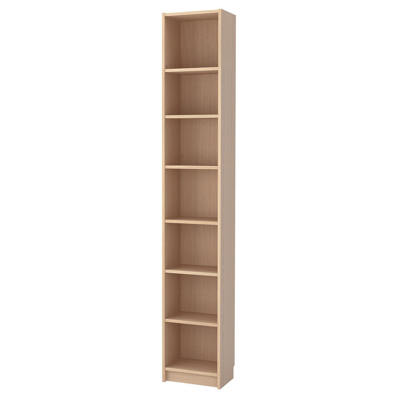 Стеллаж IKEA BILLY 40x237x28 см дубовый шпон 392.499.38