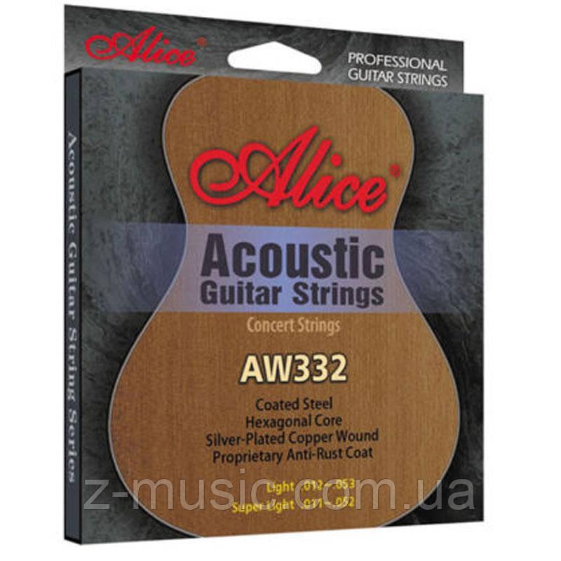 Струны для акустической гитары Alice AW332L 12-53