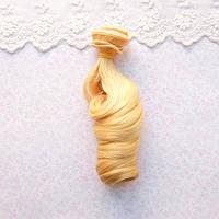Волосы для Кукол Трессы Локоны Омбре СОЛНЕЧНЫЙ БЛОНД 15 см