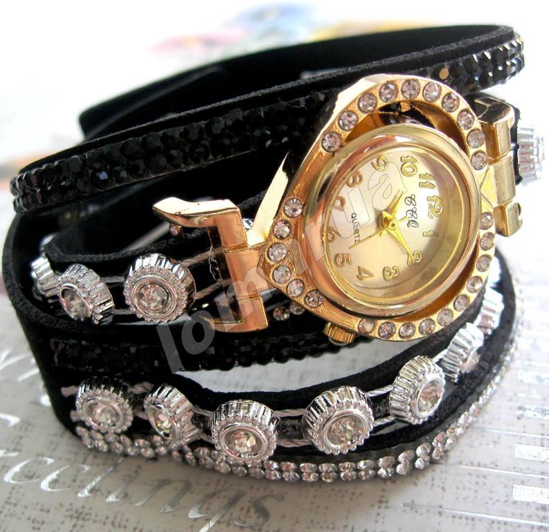 a71f34487390 Женские часы-браслет со стразами CCQ Black  115 грн. - Наручные часы ...