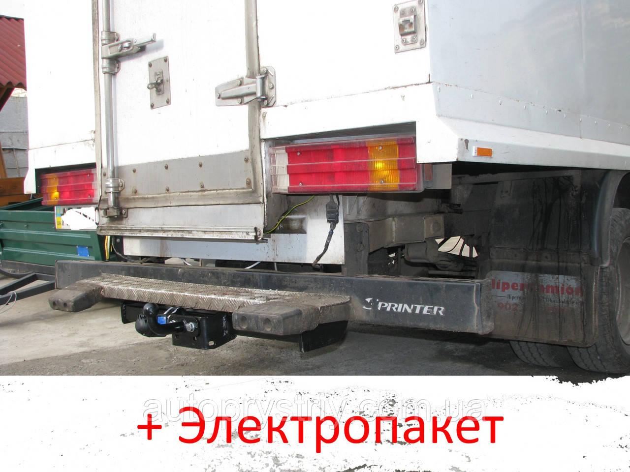 Фаркоп - из подножкой - Mercedes Sprinter Микроавтобус / Бортовой (2006--) L=3665/4351