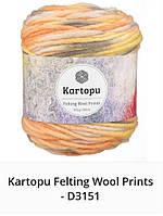 Kartopu Felting Wool Prints- 3151