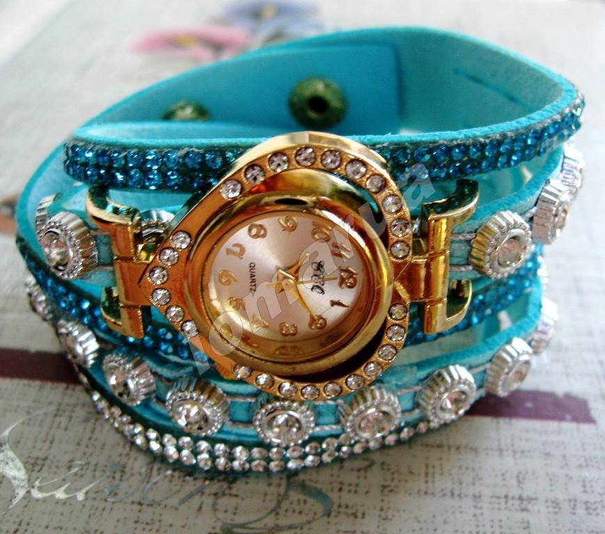76d7987d6f1f Женские часы-браслет со стразами CCQ Persian green  115 грн ...