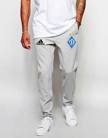 Мужские футбольные штаны Динамо, Dynamo, серые, фото 2