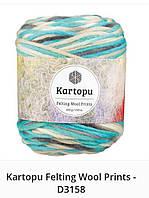 Kartopu Felting Wool Prints- 3158