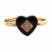 Кольцо женское позолота ХР 1584. Размер 19