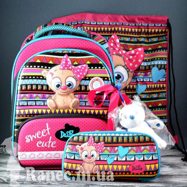 Школьный набор DeLune (рюкзак + сменка+пенал+брелок) 9-115