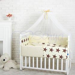 """Детский постельный комплект ТМ Маленькая Соня Comfort """"Шоколадные звезды"""""""