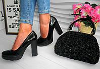 Нарядные женские туфли на каблуке, фото 1