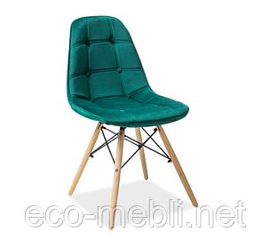 Дерев'яне крісло на кухню Axel 3 zielony Signal