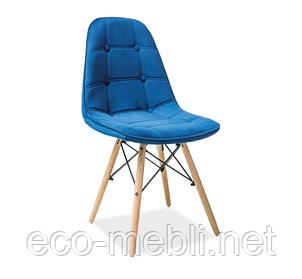 Дерев'яне крісло на кухню Axel 3 niebieski Signal