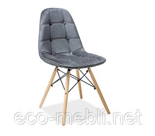 Дерев'яне крісло на кухню Axel 3 szary Signal