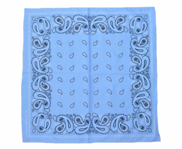 Бандана класическая светло-голубая 1