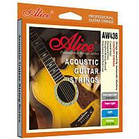 Струны для акустической гитары Alice AW436SL 11-52