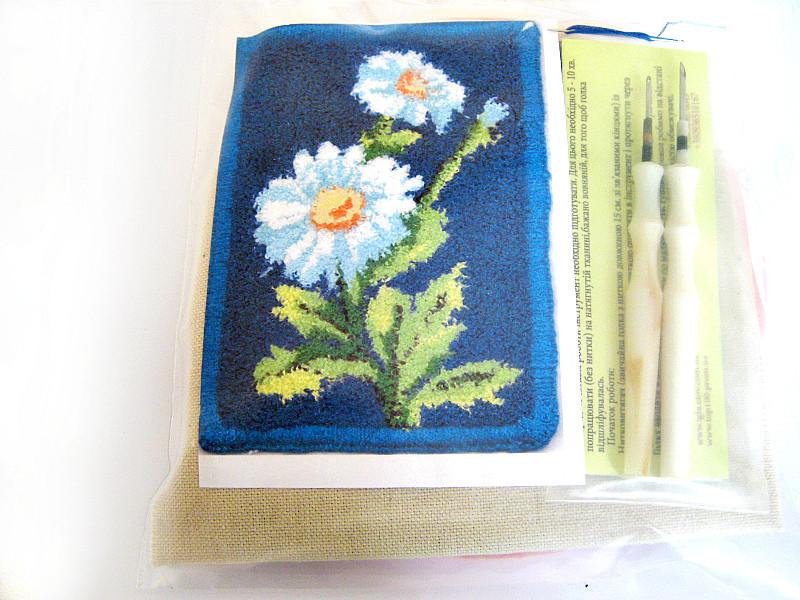 Набор для рукоделия (техника ковровой вышивки)  2 иглы «Ромашки»