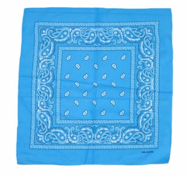 Бандана класическая голубая 1