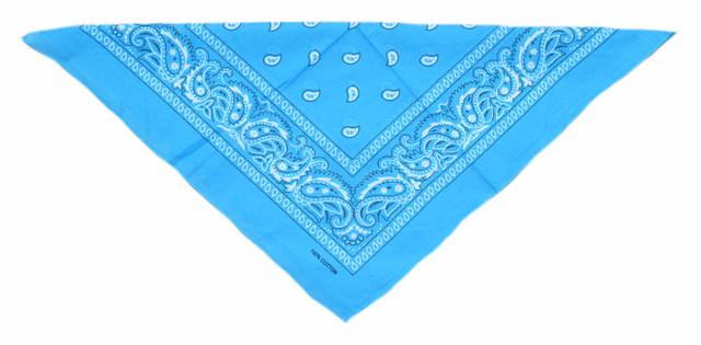 Бандана класическая голубая 3